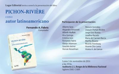 presentación libro Pichon Riviere